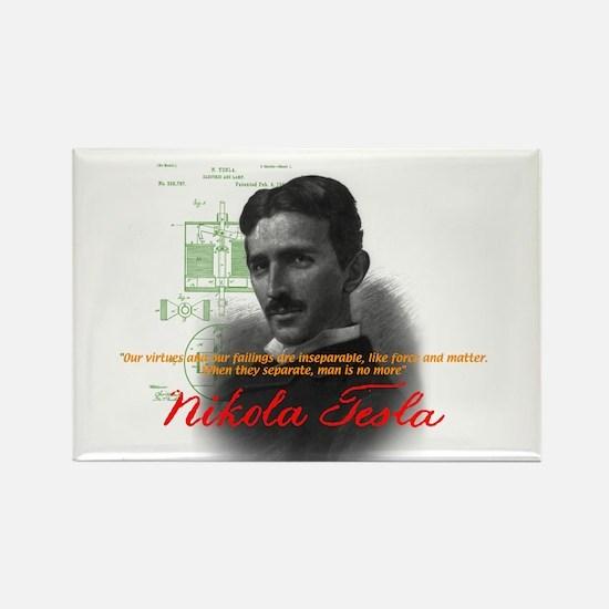 Nikola Tesla Rectangle Magnet