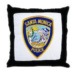 Santa Monica PD Throw Pillow