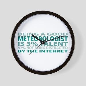 Good Meteorologist Wall Clock