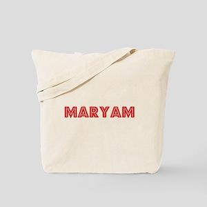 Retro Maryam (Red) Tote Bag