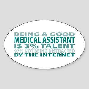 Good Medical Assistant Oval Sticker