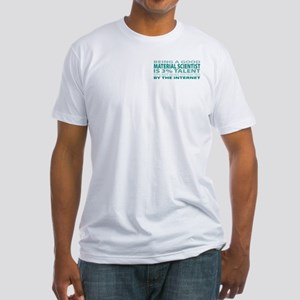 Good Material Scientist Fitted T-Shirt