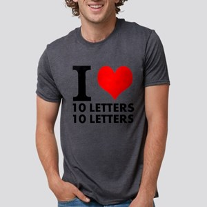 I Heart Your Text 20 Letter Mens Tri-blend T-Shirt