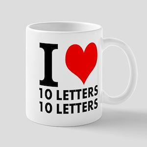 I Heart Your Text 20 Letters 11 oz Ceramic Mug