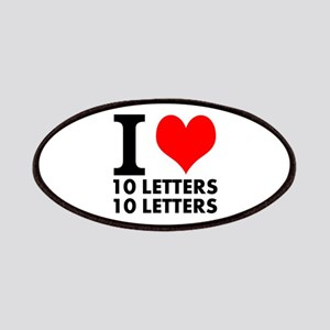 I Heart Your Text 20 Letters Patch