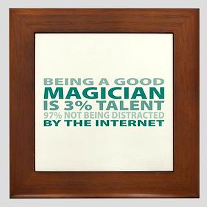 Good Magician Framed Tile