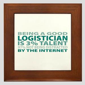 Good Logistician Framed Tile