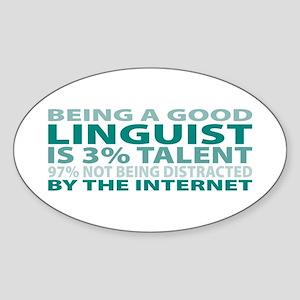 Good Linguist Oval Sticker