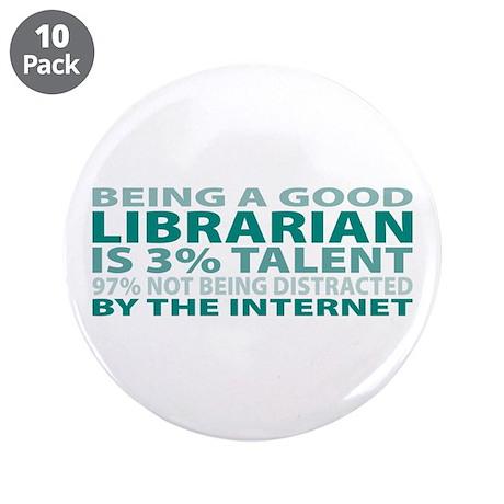 "Good Librarian 3.5"" Button (10 pack)"