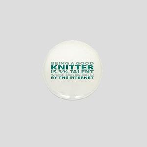 Good Knitter Mini Button