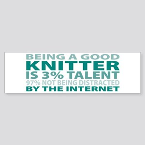 Good Knitter Bumper Sticker