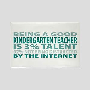 Good Kindergarten Teacher Rectangle Magnet