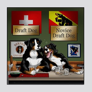 """Draft Dogs"" Tile Coaster"