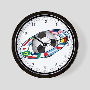 World Soccer Logo Wall Clock
