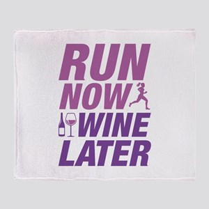 Run Now Wine Later Stadium Blanket