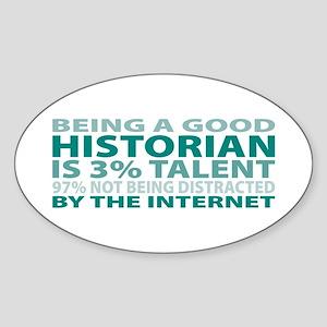 Good Historian Oval Sticker