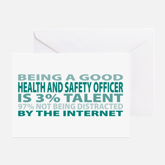 Good Health and Safety Officer Greeting Card