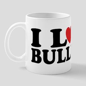 I Love Bulldogs Mug