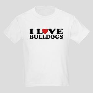 I Love Bulldogs Kids Light T-Shirt
