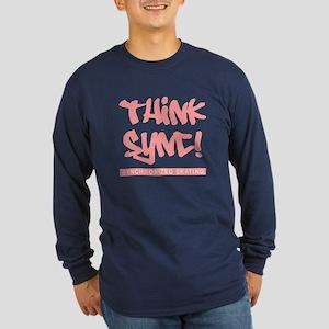 Think Sync! Long Sleeve Dark T-Shirt
