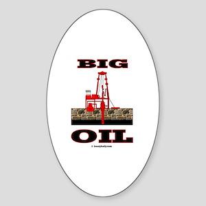Big Oil Oval Sticker
