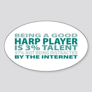 Good Harp Player Oval Sticker