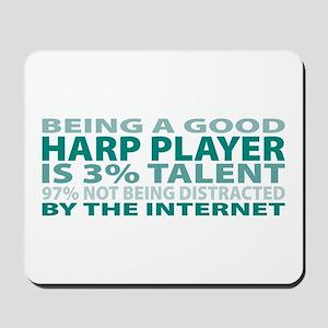 Good Harp Player Mousepad