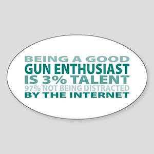 Good Gun Enthusiast Oval Sticker