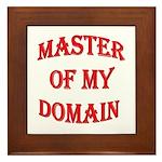 Master of My Domain Framed Tile