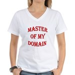 Master of My Domain Women's V-Neck T-Shirt