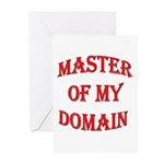 Master of My Domain Greeting Cards (Pk of 20)