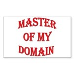 Master of My Domain Rectangle Sticker
