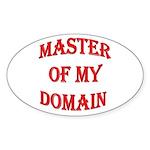 Master of My Domain Oval Sticker (10 pk)