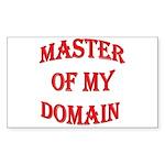 Master of My Domain Rectangle Sticker 50 pk)