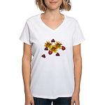 Ladybug Party Women's V-Neck T-Shirt