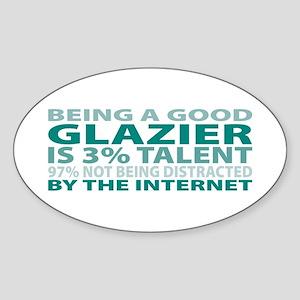 Good Glazier Oval Sticker
