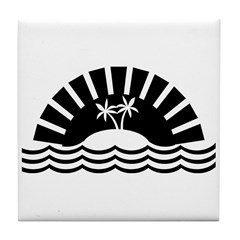 Tropical Beach Tile Coaster