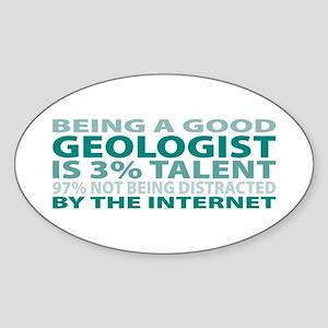 Good Geologist Oval Sticker
