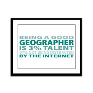 Good Geographer Framed Panel Print