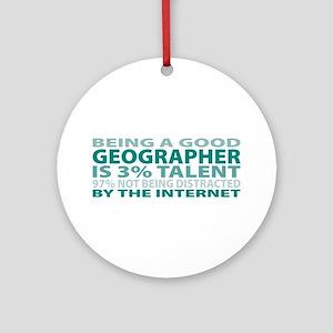 Good Geographer Ornament (Round)