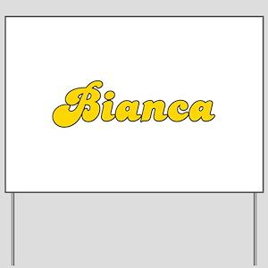 Retro Bianca (Gold) Yard Sign