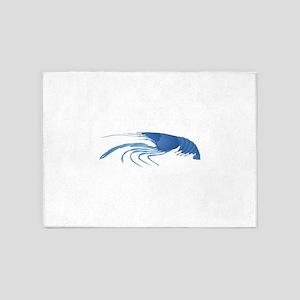 BLUE 5'x7'Area Rug