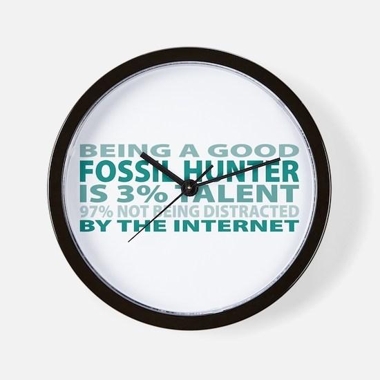 Good Fossil Hunter Wall Clock