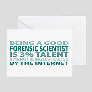 Good Forensic Scientist Greeting Card