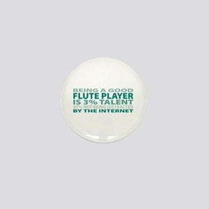 Good Flute Player Mini Button