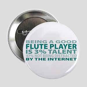 "Good Flute Player 2.25"" Button"