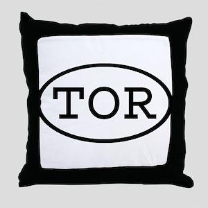 TOR Oval Throw Pillow