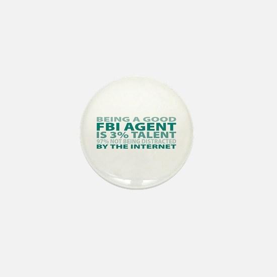 Good FBI Agent Mini Button