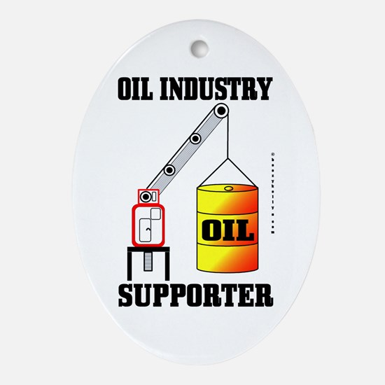 Industry Supporter Oval Ornament