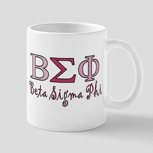 Pink Beta Sigma Phi Sorority Mug